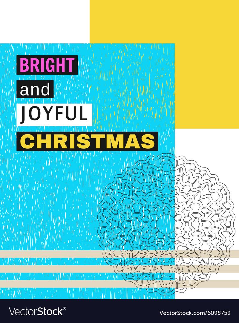 Bright and Joyful Christmas Royalty Free Vector Image