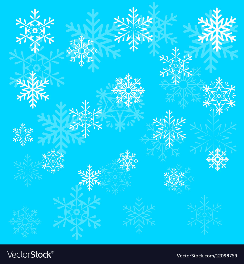 Christmas snowflake on blue sky background