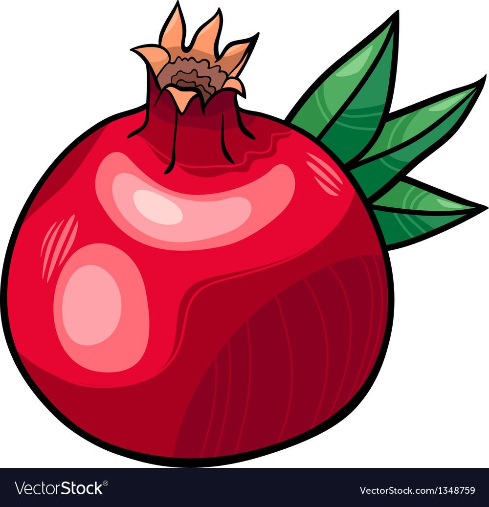 Pomegranate fruit cartoon
