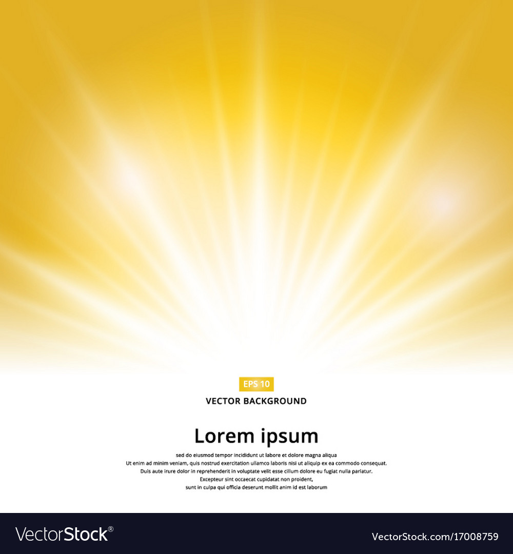 Sunlight effect sparkle on yellow background with