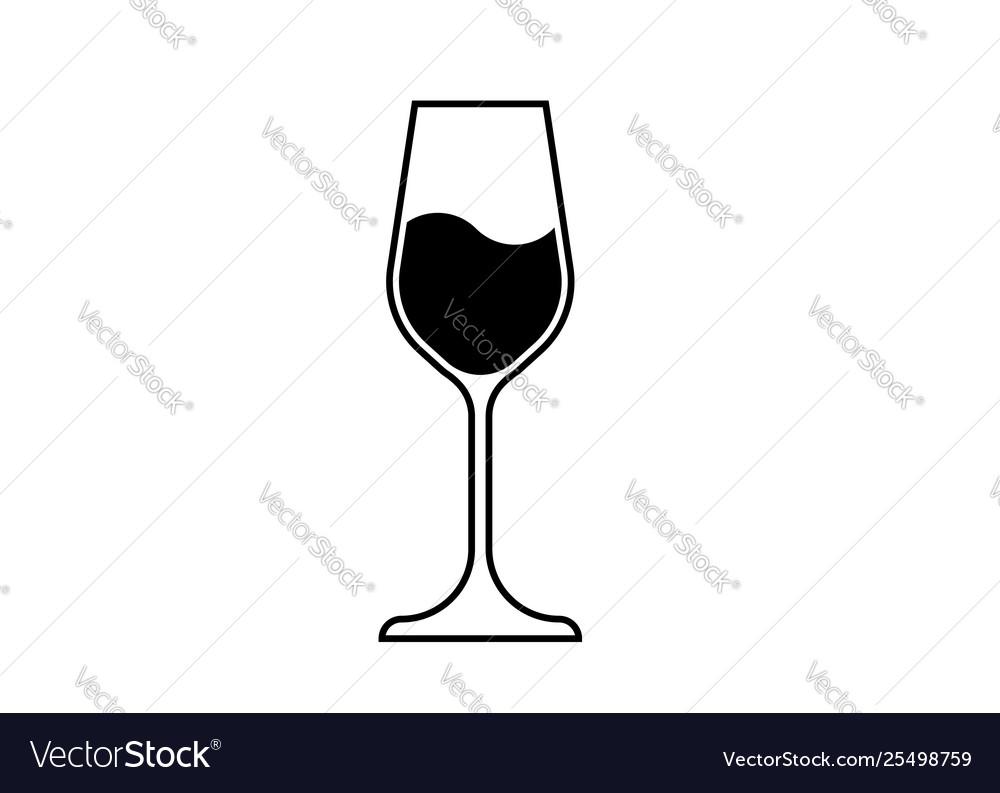 Wine glass icon wineglass logo glassware isolate