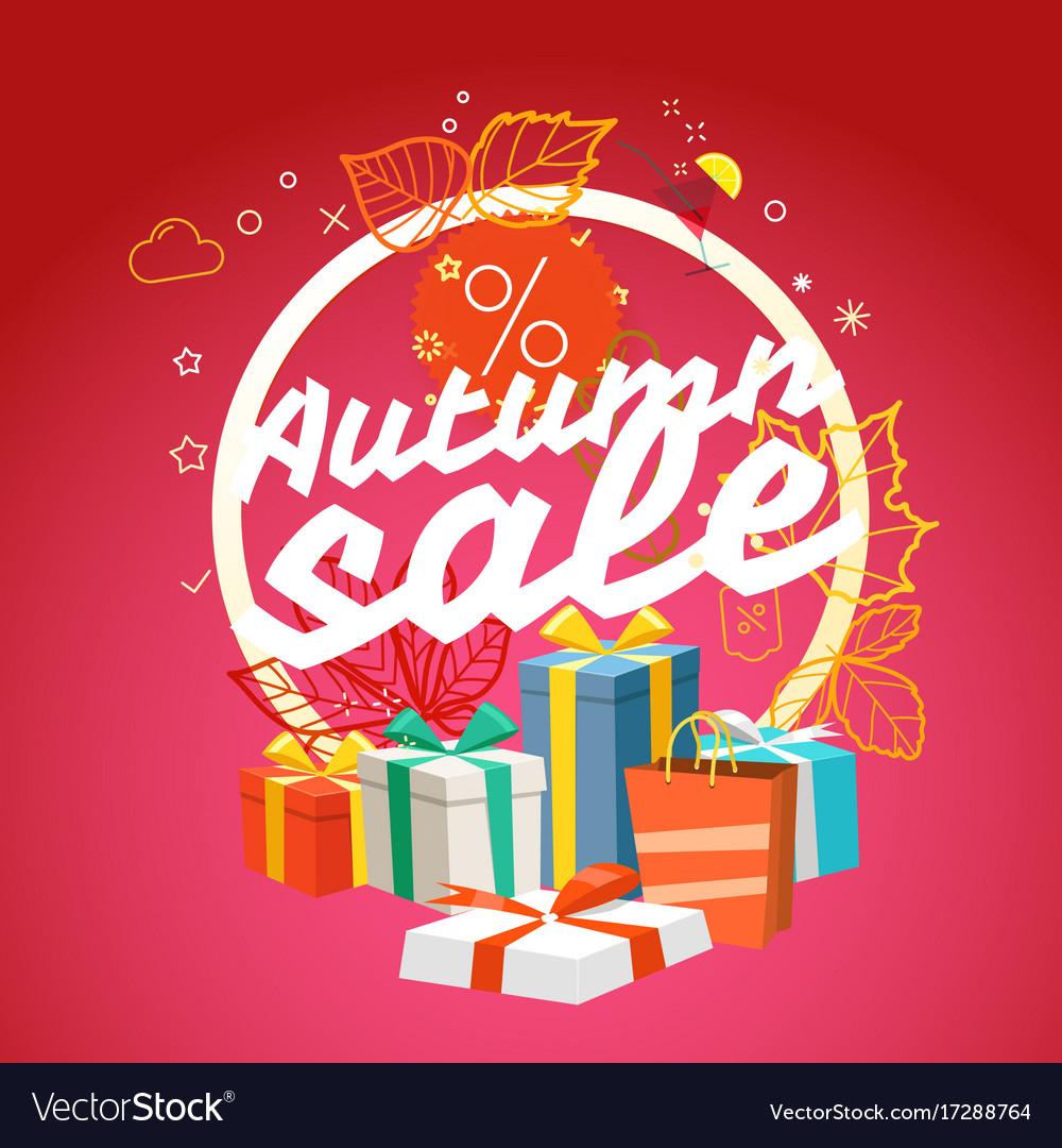 Autumn sale season sale concept