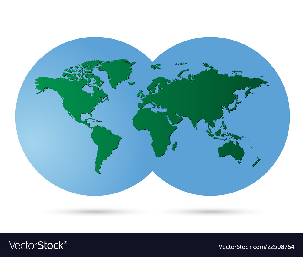 Earth map and globe detail white background