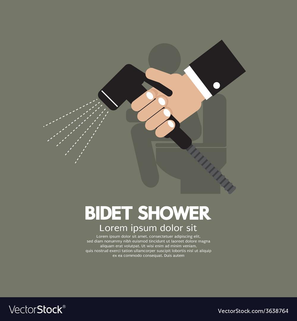 Hand Using A Bidet Shower vector image