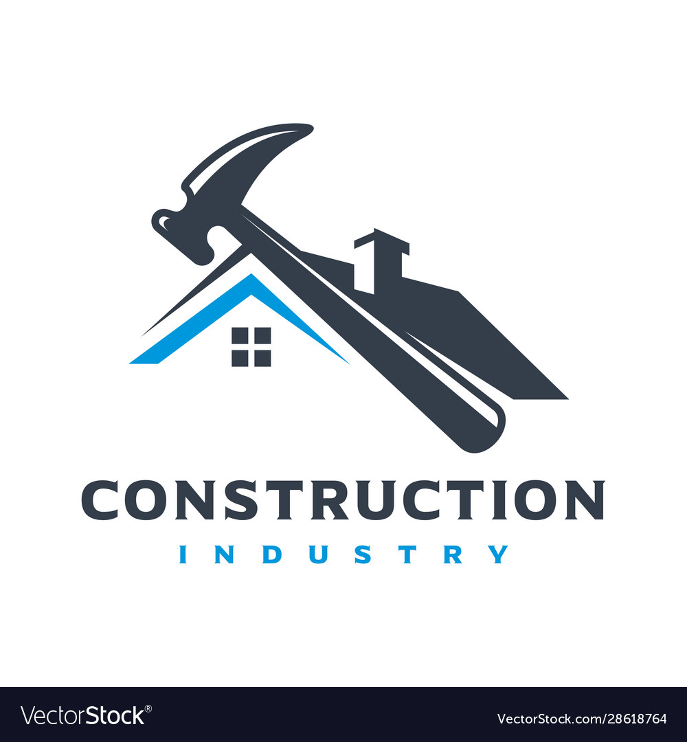 Home building logo design Royalty Free Vector Image