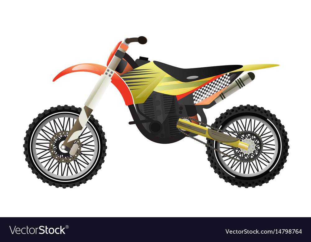 Rally motorbike isolated icon
