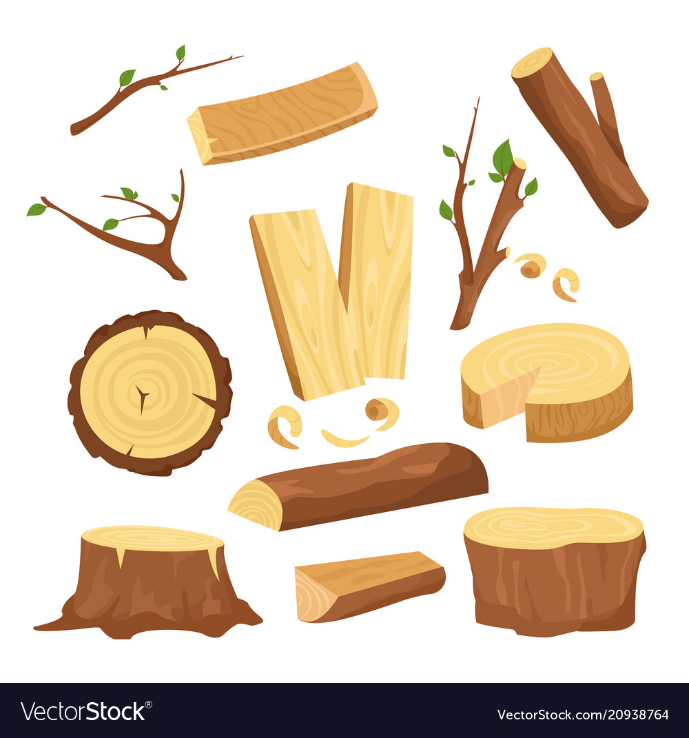 Set of materials for wood