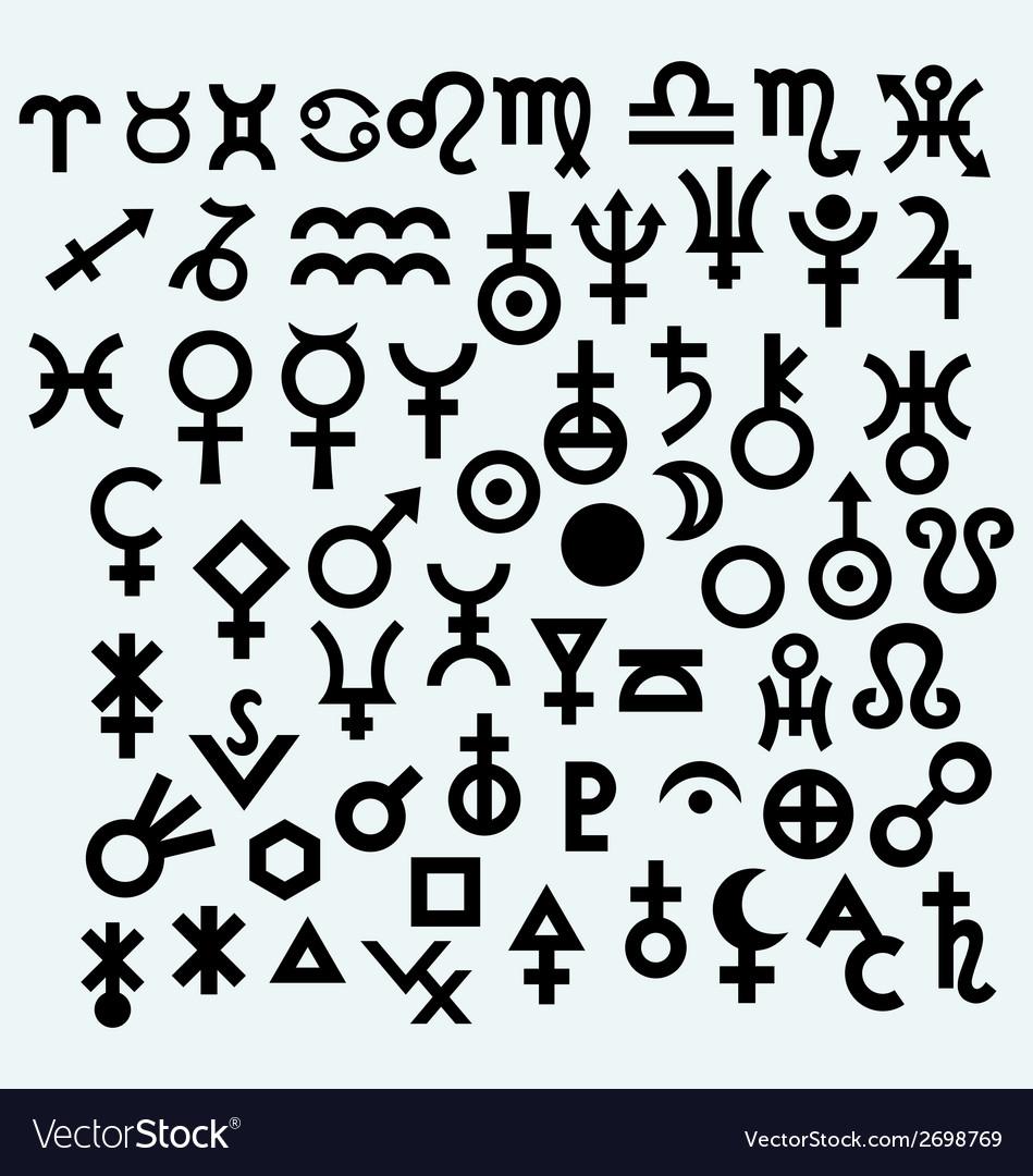 Astrological Symbols Royalty Free Vector Image