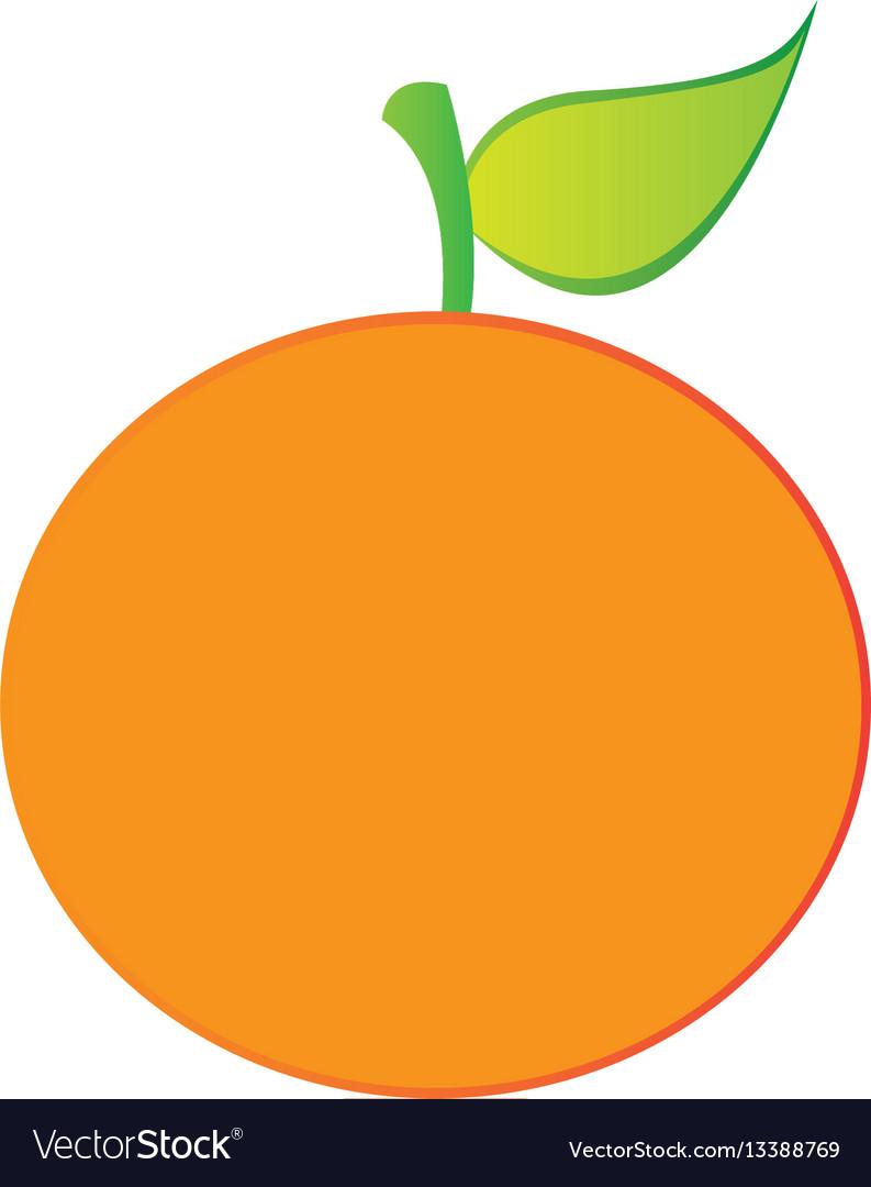 Orange fruit icon stock