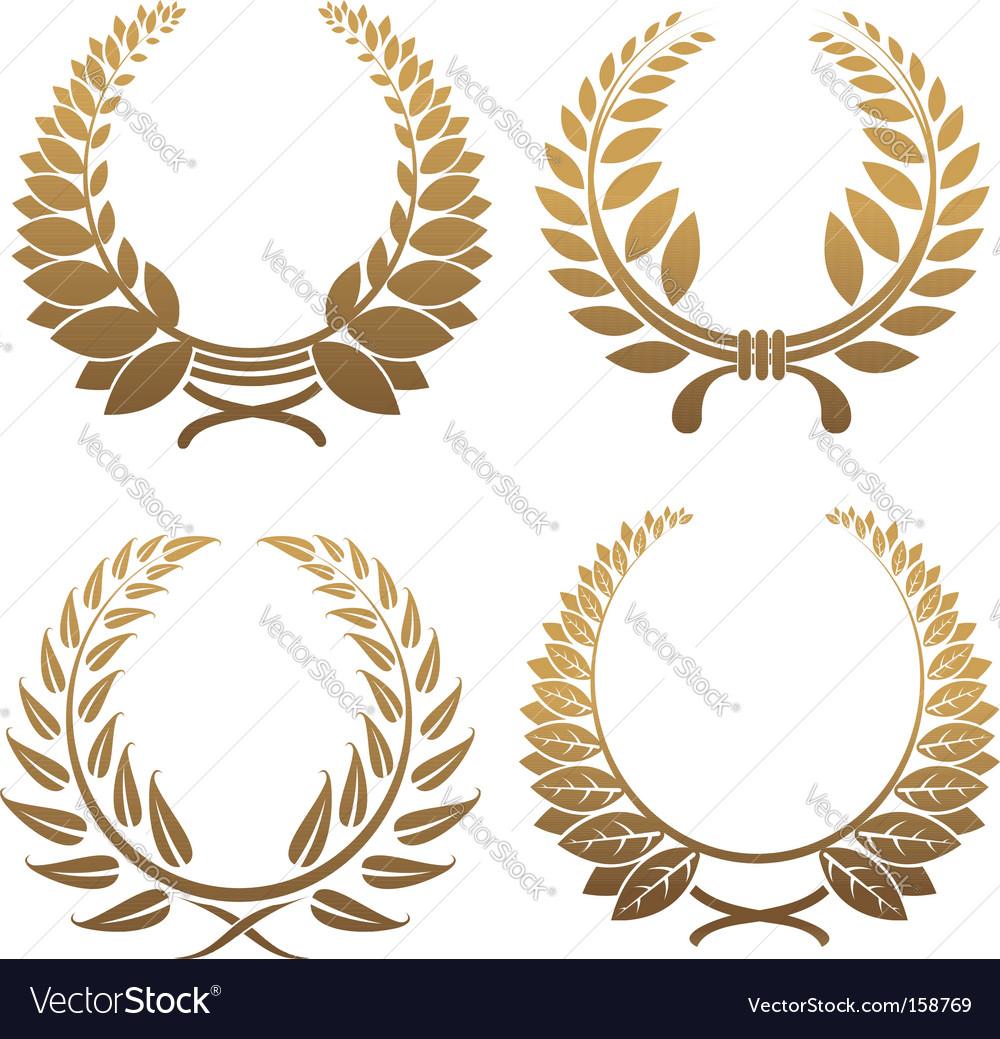 Set of laurel wreaths