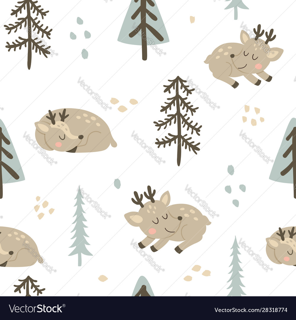 Adorable deers pattern