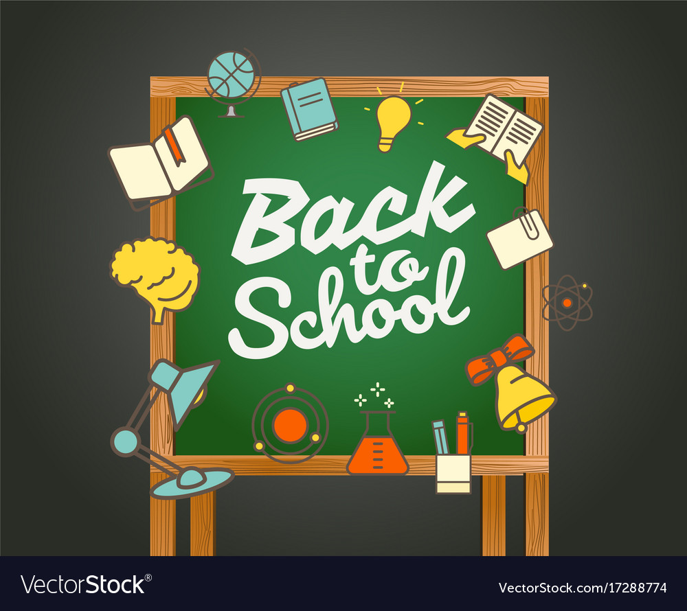 Back to school greeting card back to school vector image m4hsunfo