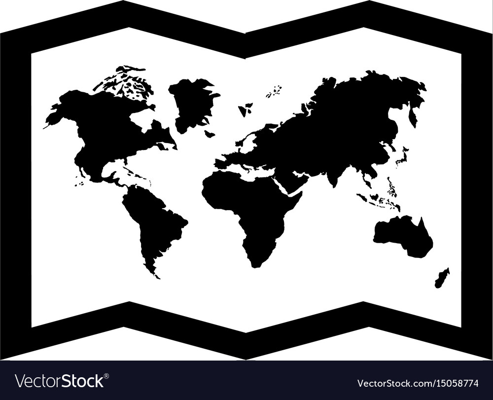 Black icon world map cartoon royalty free vector image black icon world map cartoon vector image gumiabroncs Images