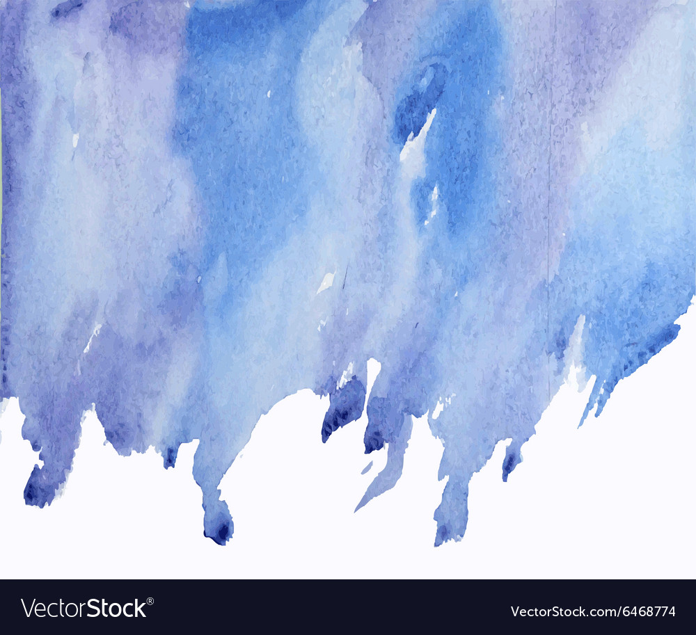 Blue abstract watercolor on wet spot