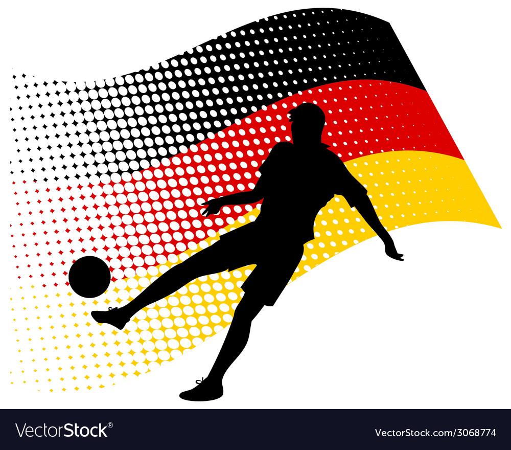 Germany soccer player against national flag