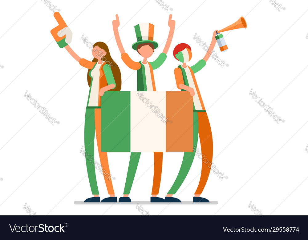 Irish flag ireland people