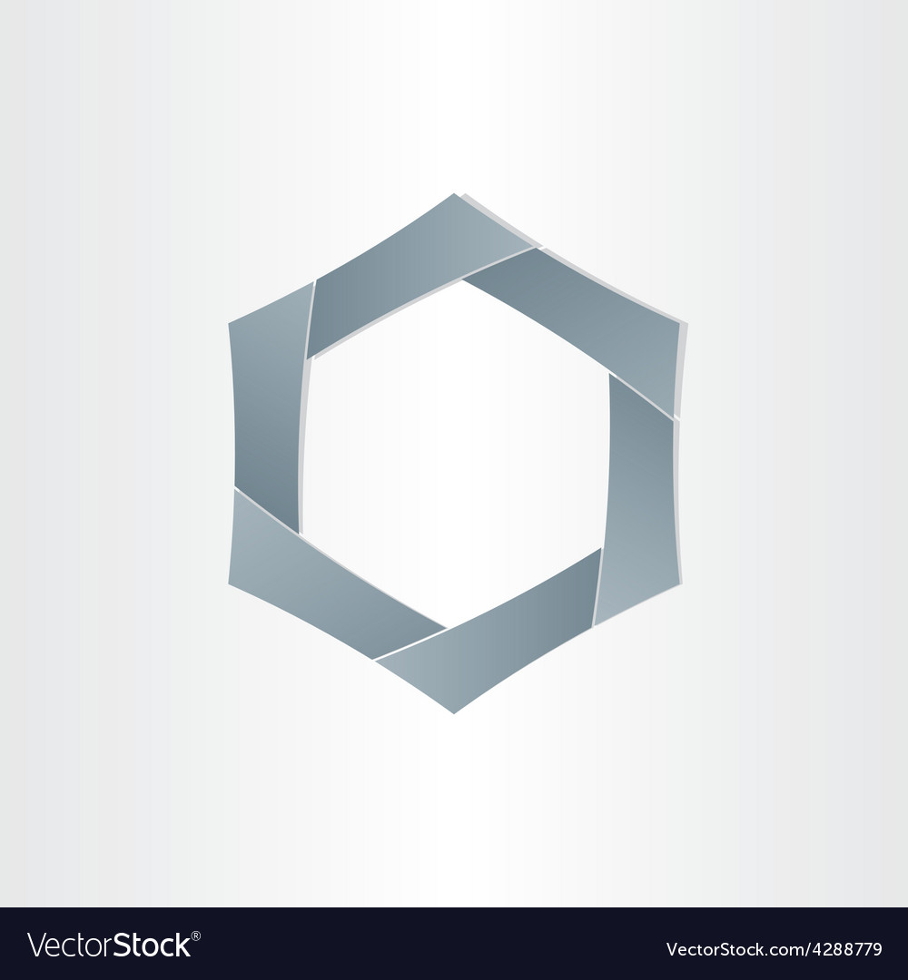 Abstract hexagon shape background symbol