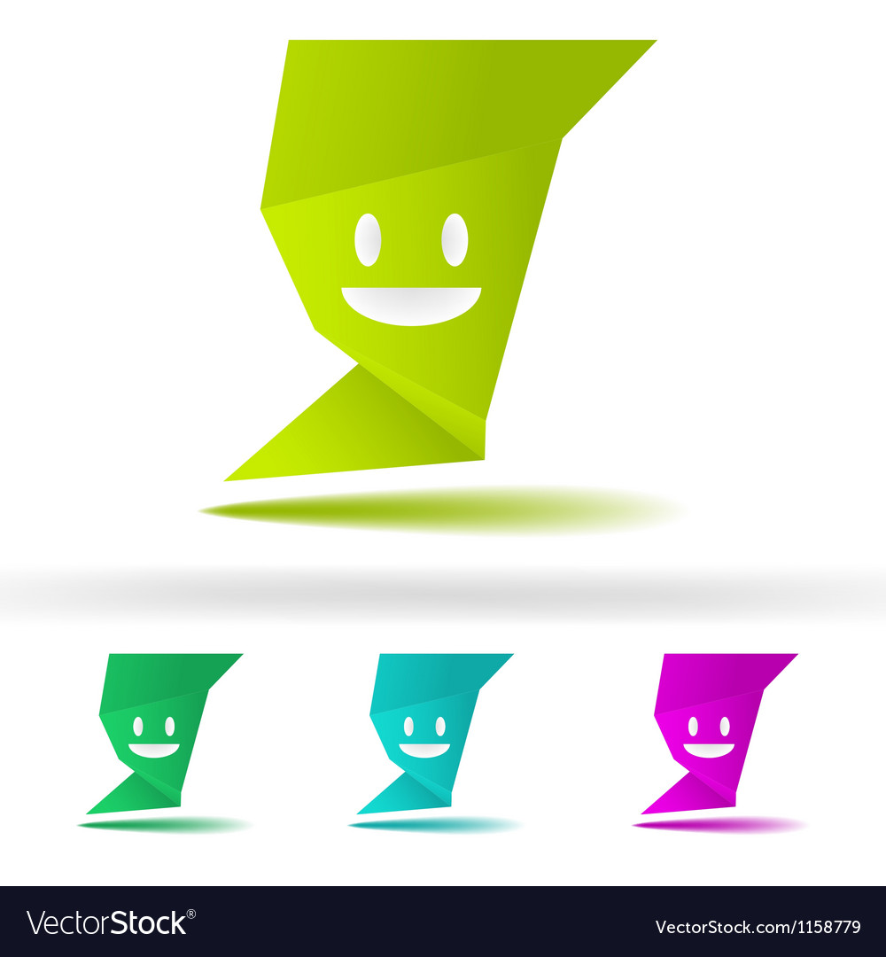 Abstract speech smile fece EPS8 vector image