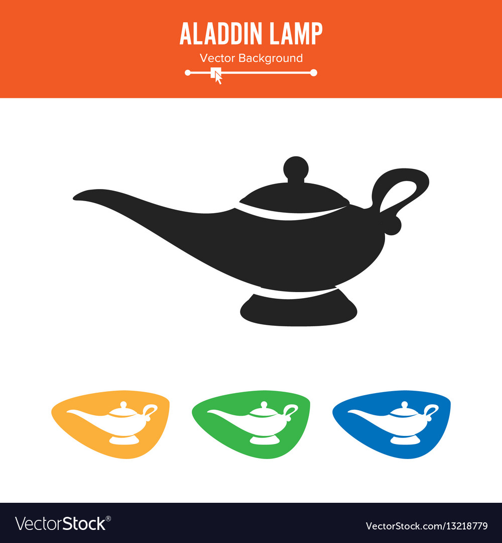 Aladdin Lamp Simple Black Silhouette