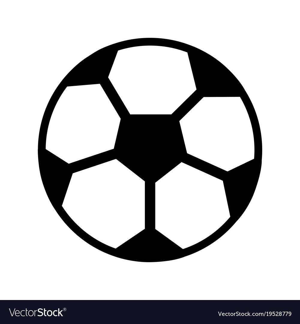 Ball Football Soccer Icon Image Royalty Free Vector Image