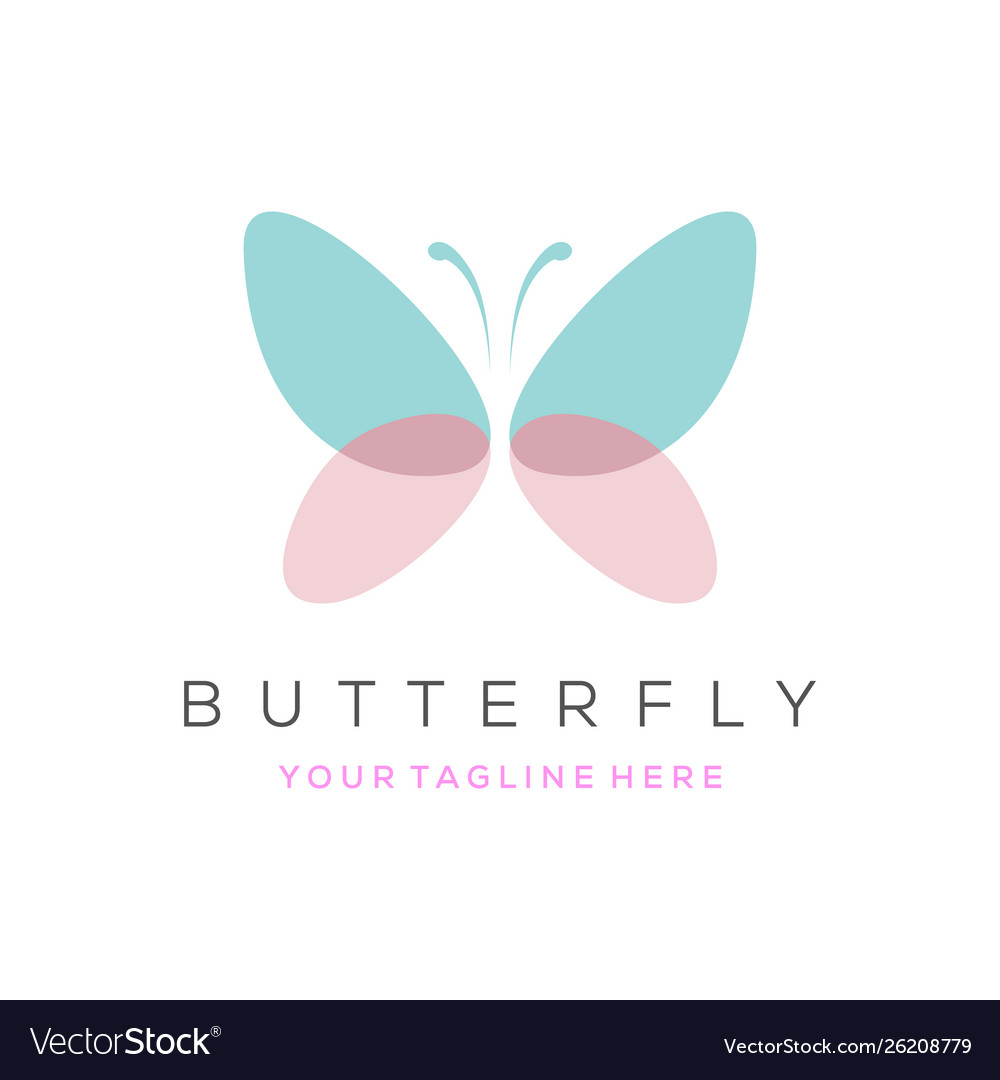 Colorful butterfly logo overlay transparent
