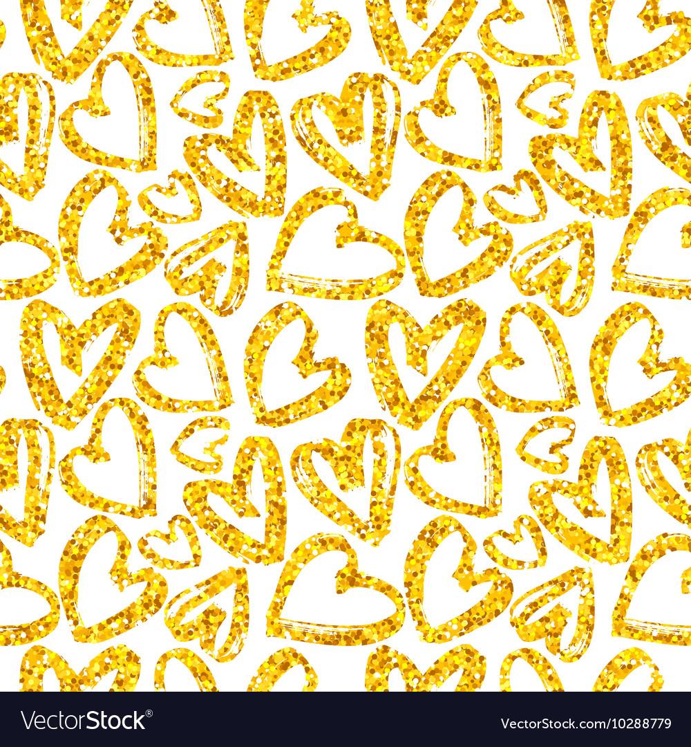 Golden heart pattern