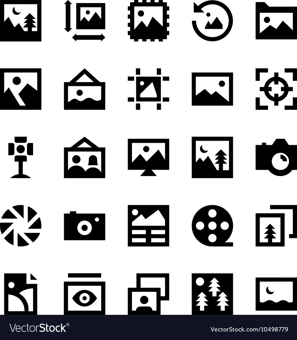 Photos and Images Icons 1 vector image