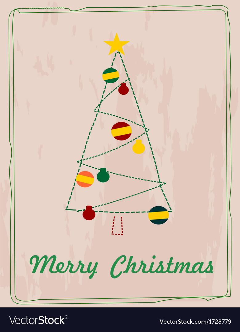 Simple christmas card royalty free vector image simple christmas card vector image m4hsunfo