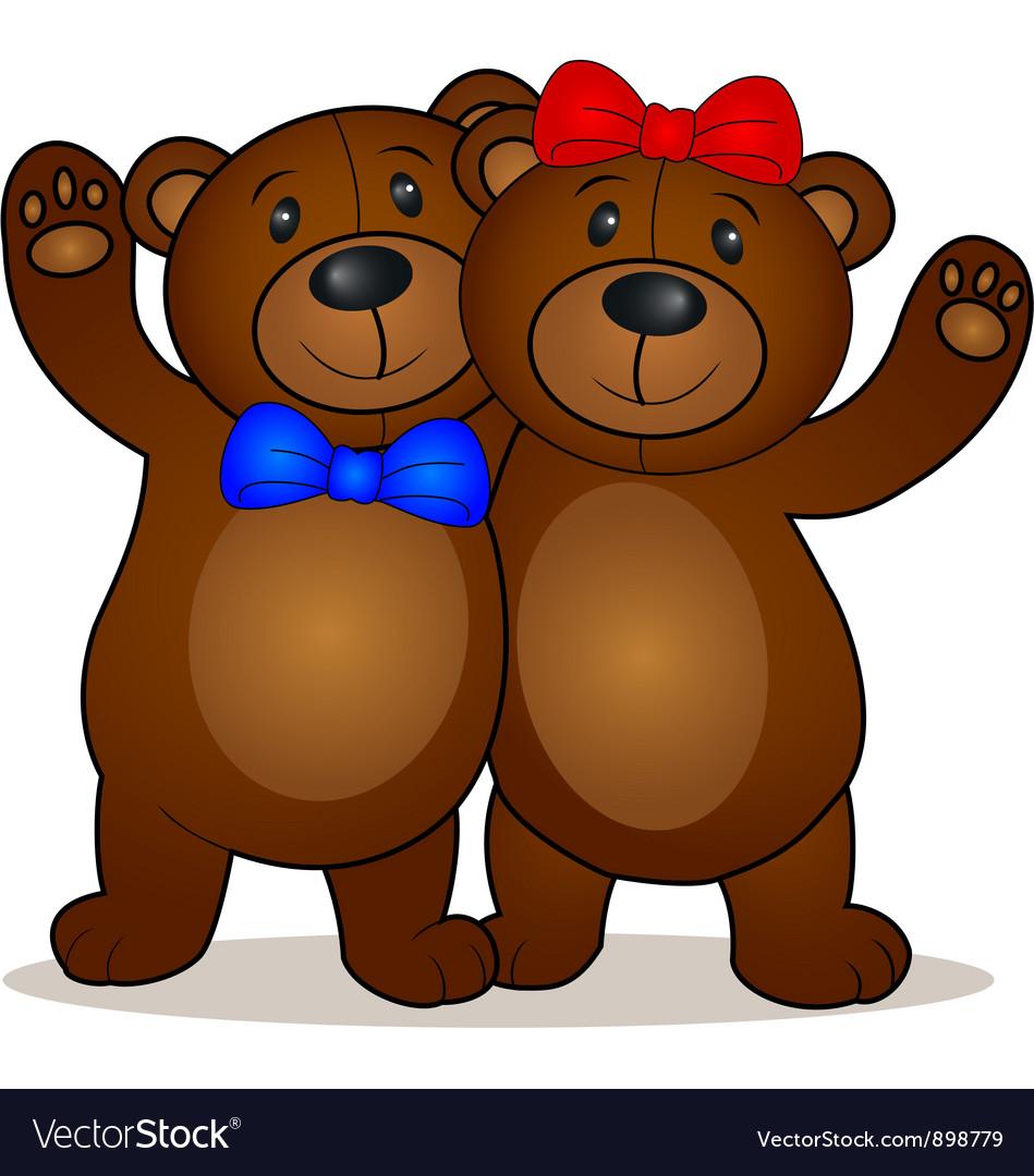 Teddy Bear cartoon vector image