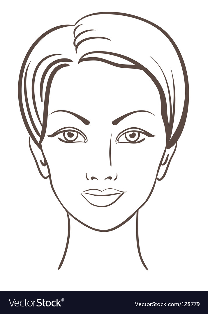 Woman face illustration vector image