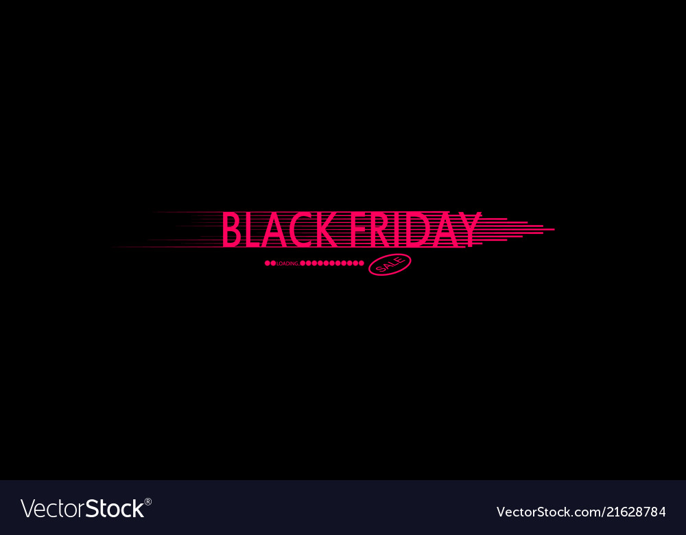 Black friday speed icon and loading bar on the