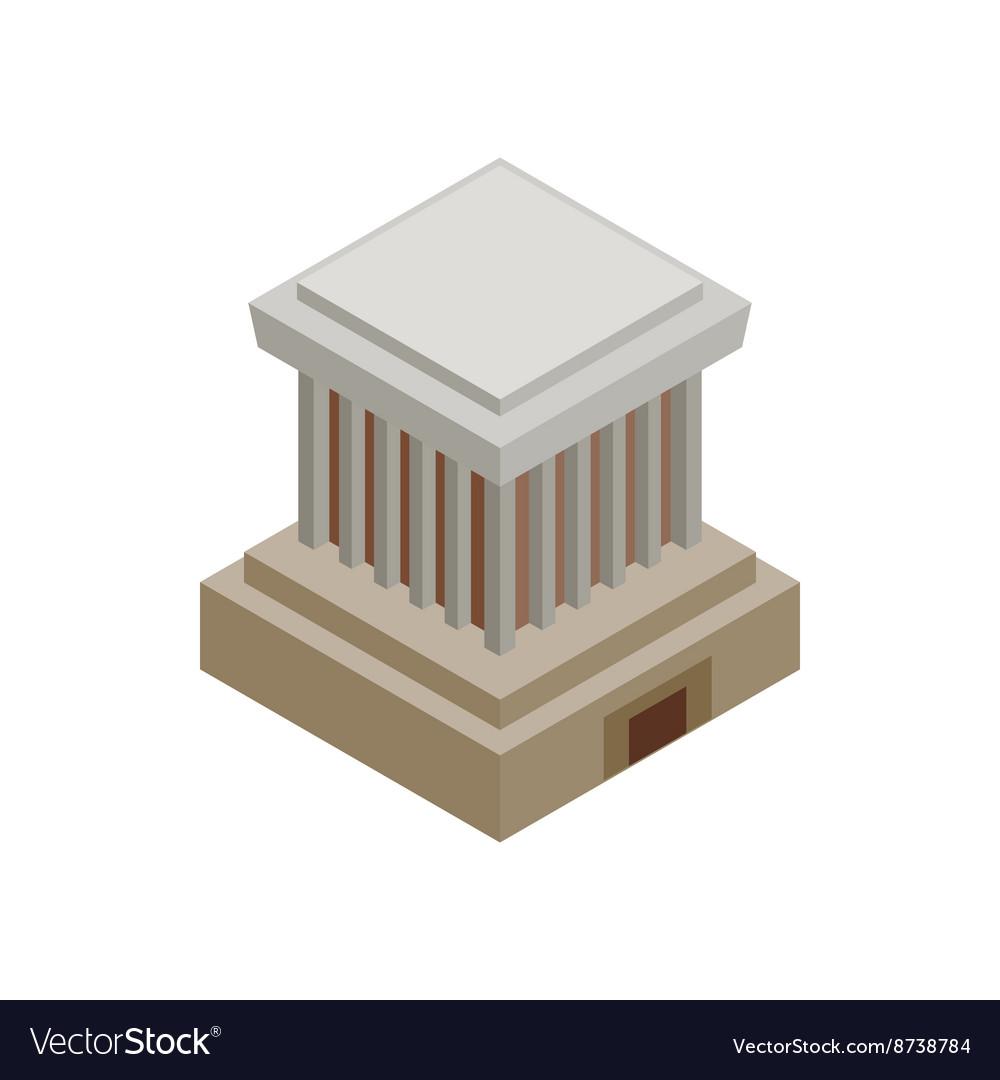 Ho Chi Minh Mausoleum icon isometric 3d style