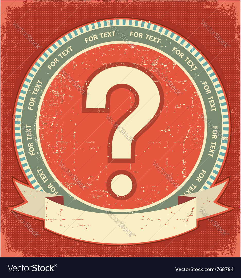Question mark label vector image