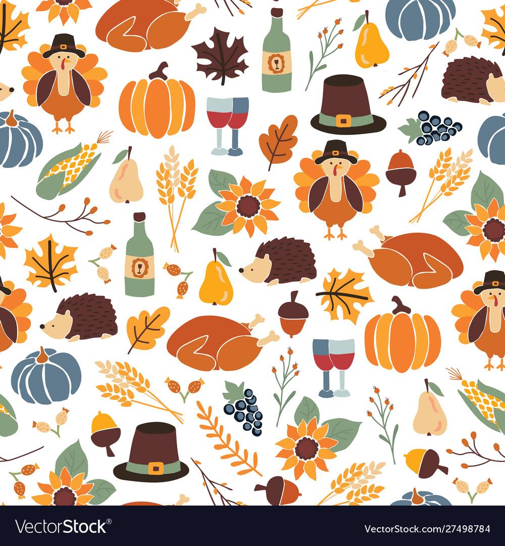 Seamless thanksgiving day pattern