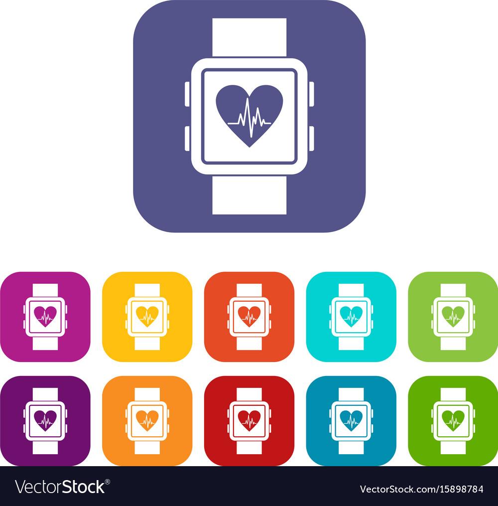 Smartwatch icons set