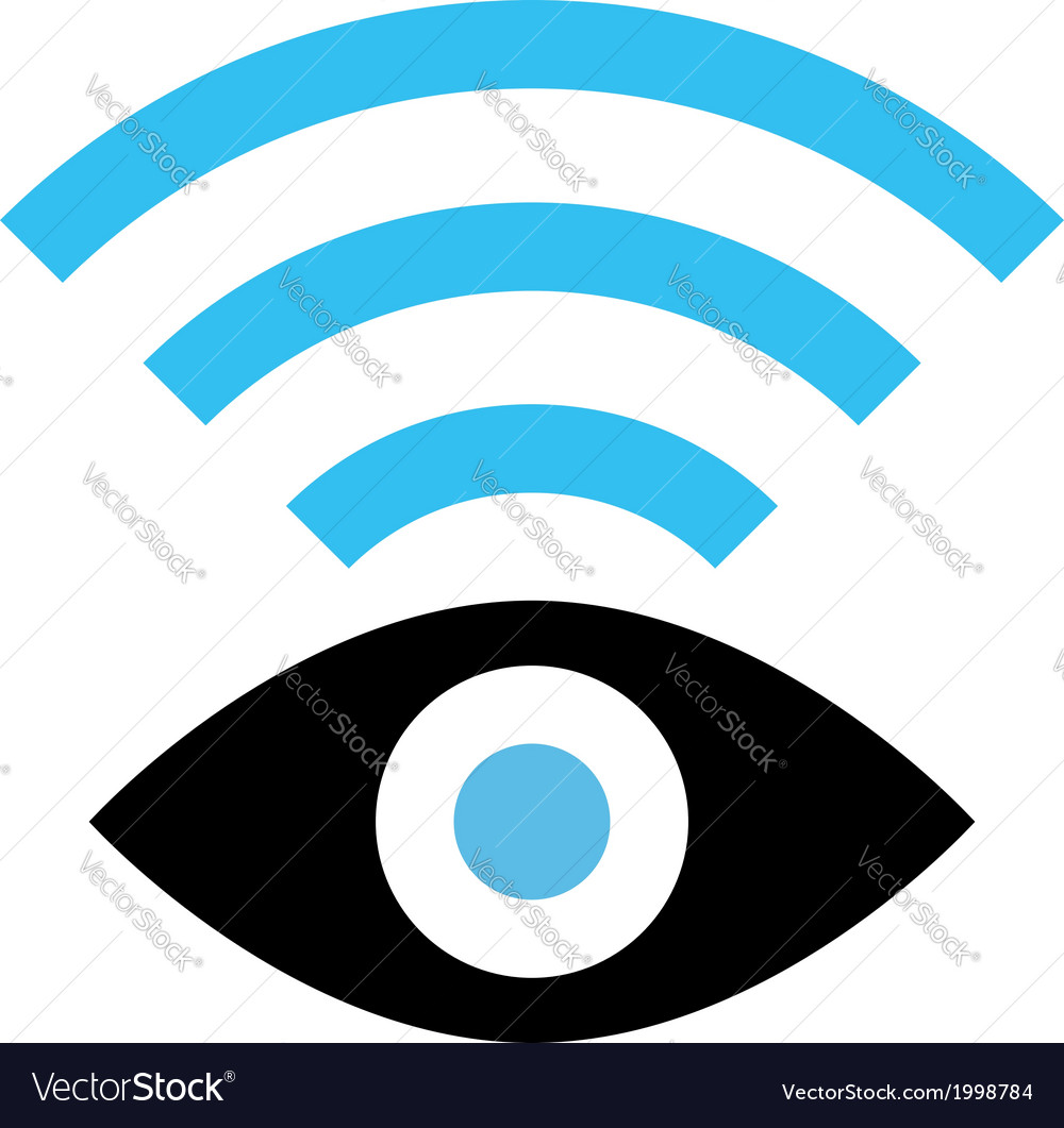 spy wifi icon royalty free vector image vectorstock rh vectorstock com wifi icon vector file wifi icon vector png