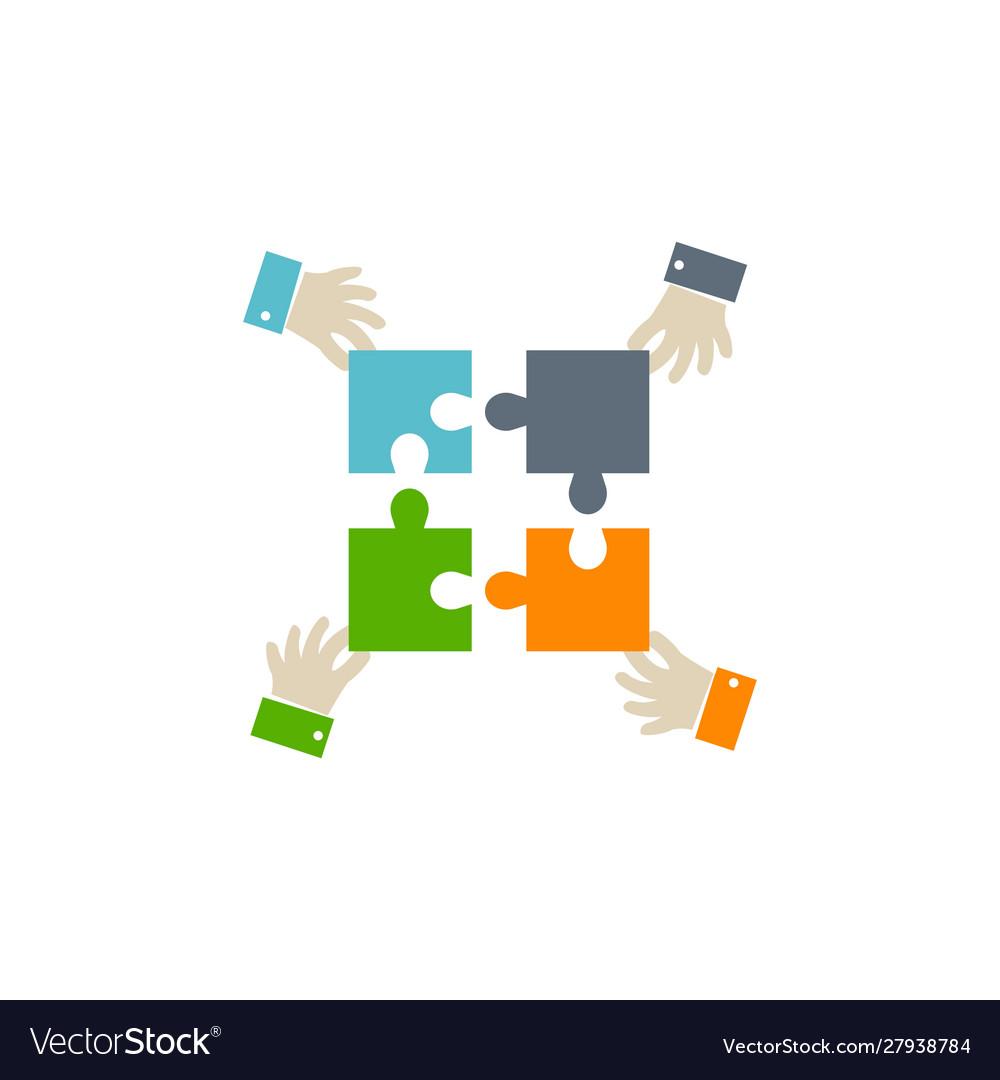 Teamwork icon on white background