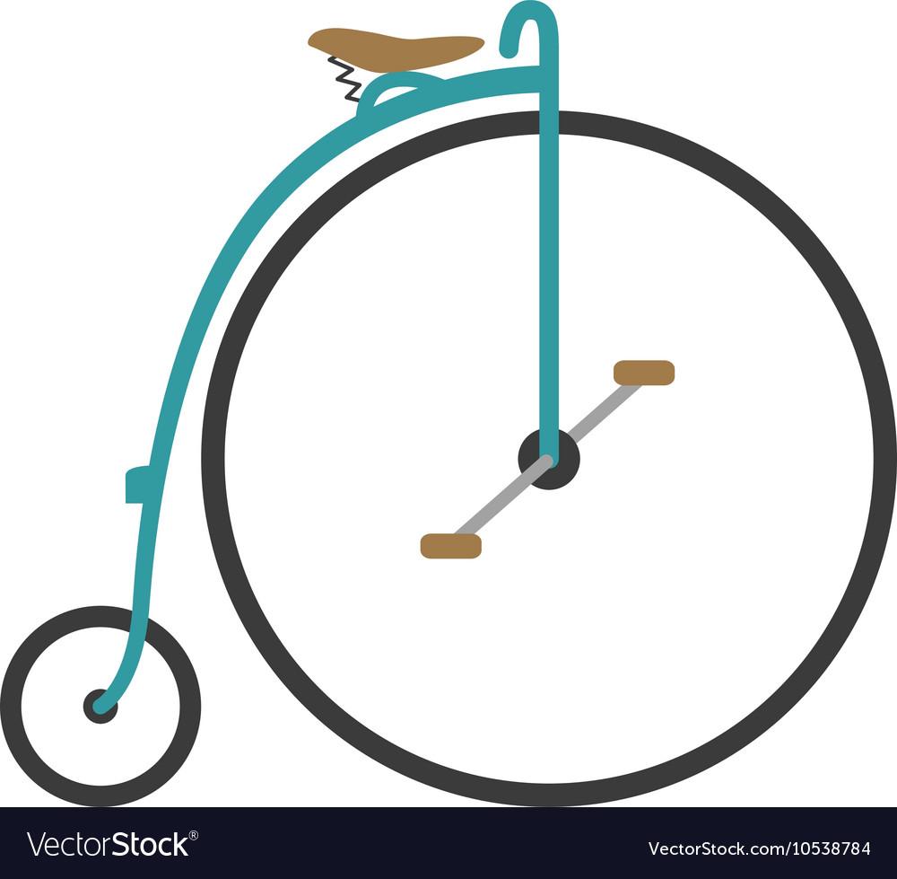 Vintage bicycle flat