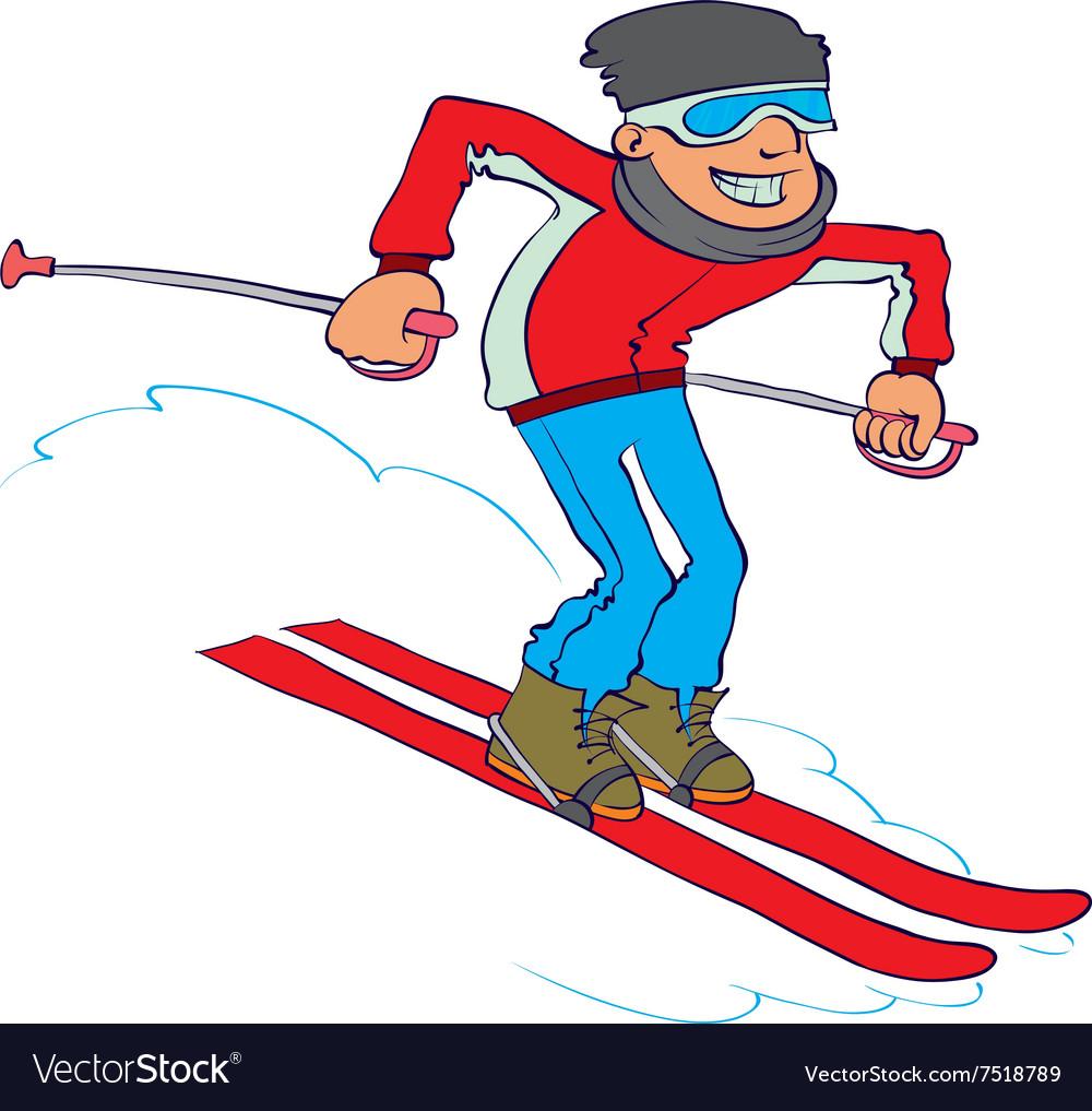 Cartoon Skier