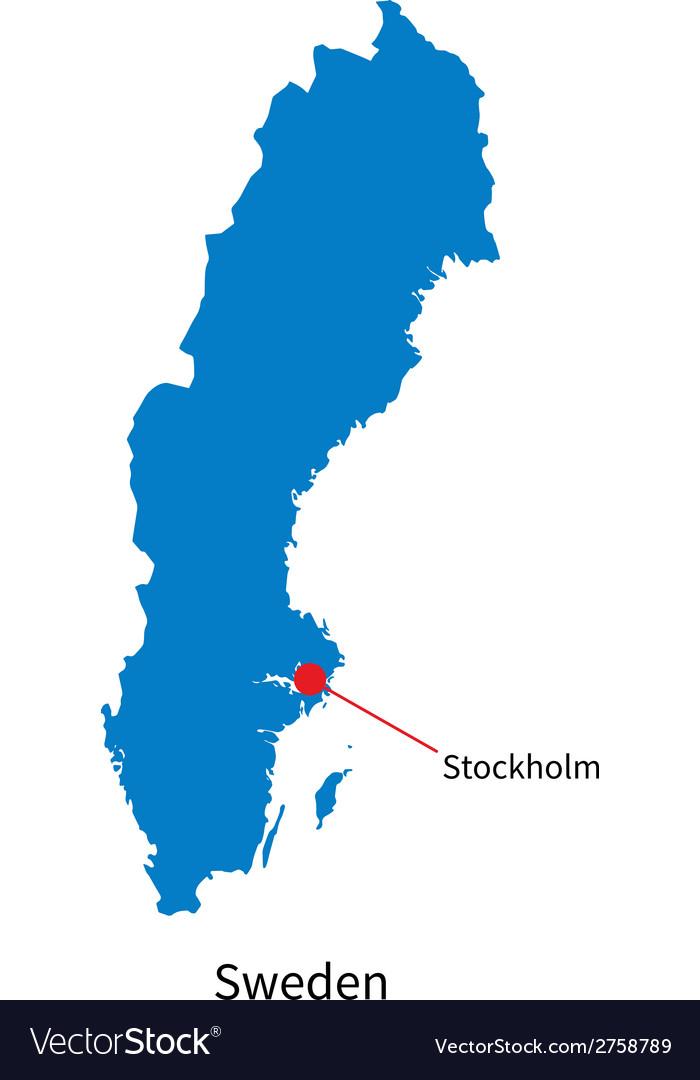 Stockholm Sweden Map Detailed map of Sweden and capital city Stockholm Vector Image Stockholm Sweden Map