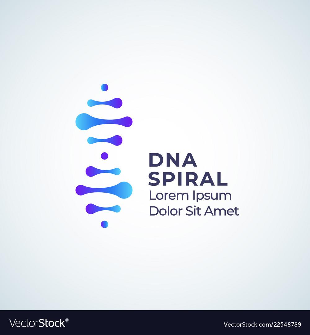 Dna spiral abstract sign symbol or logo