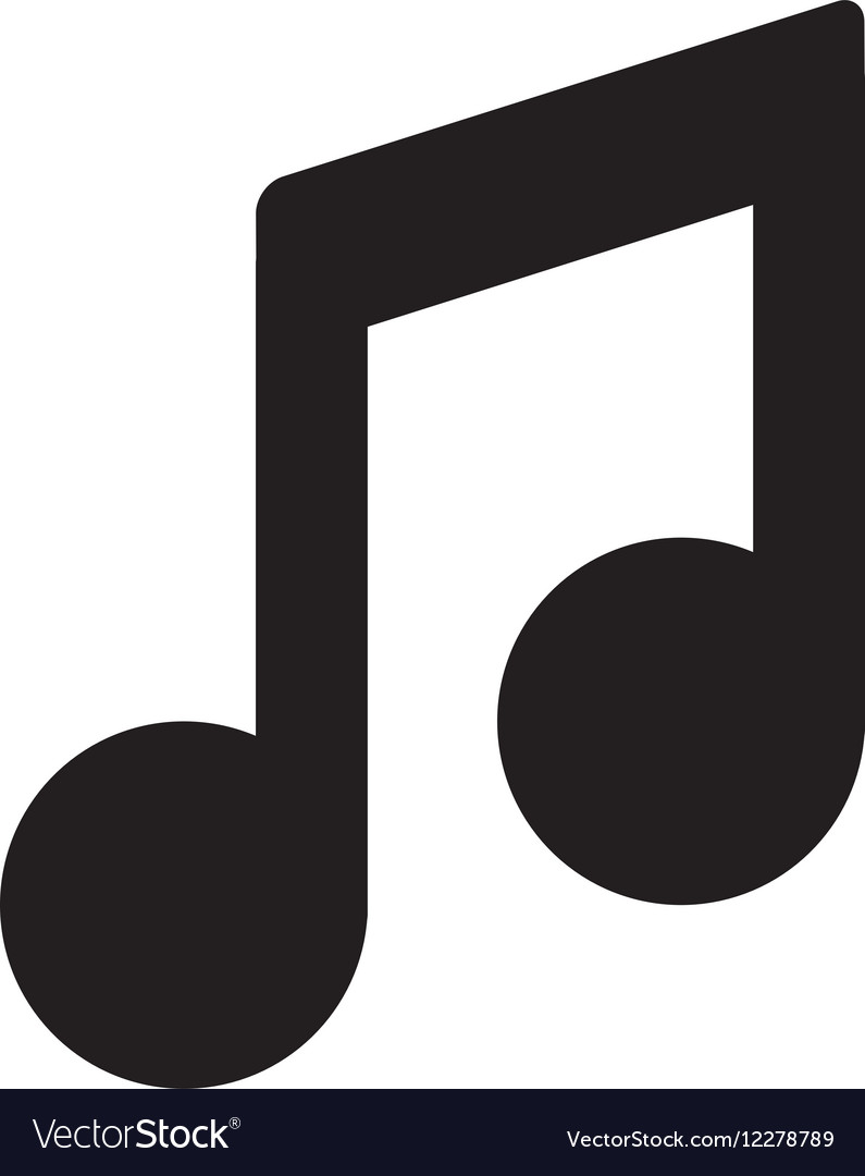 Music Note Symbol Royalty Free Vector Image Vectorstock