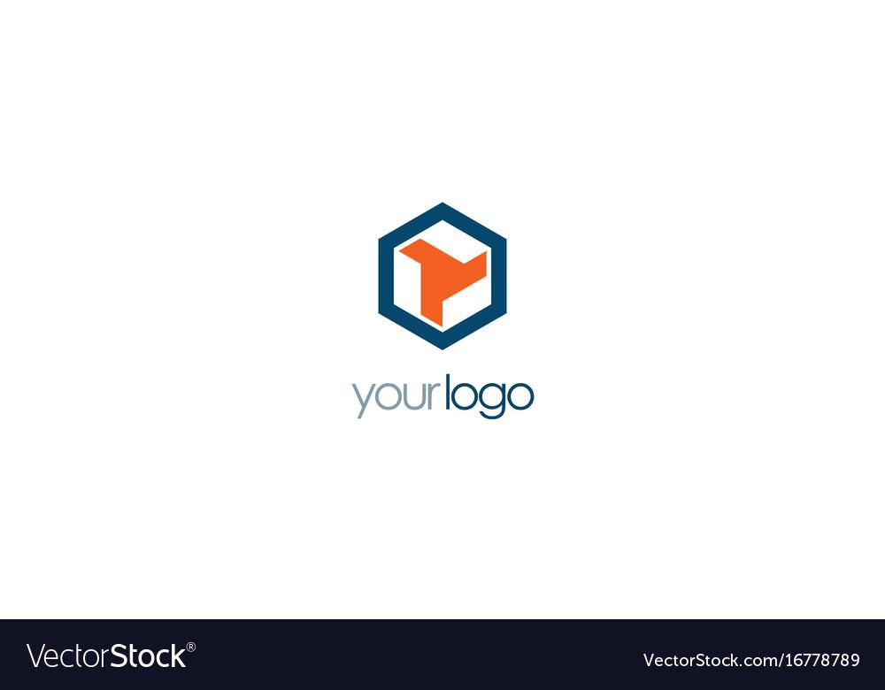 Polygon shape company logo