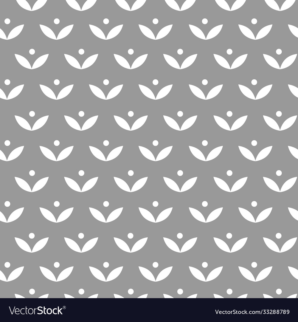 Seamless scandinavian pattern with simple stylized