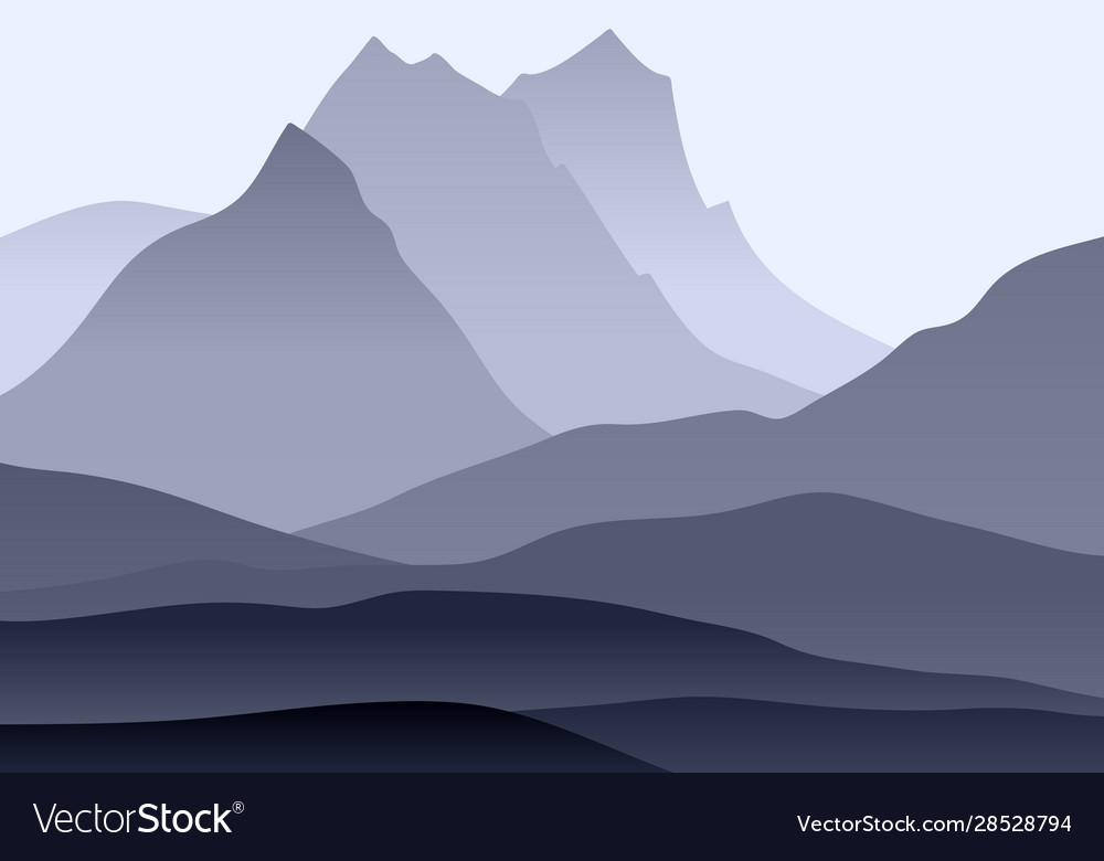 Abstract monochrome landscape