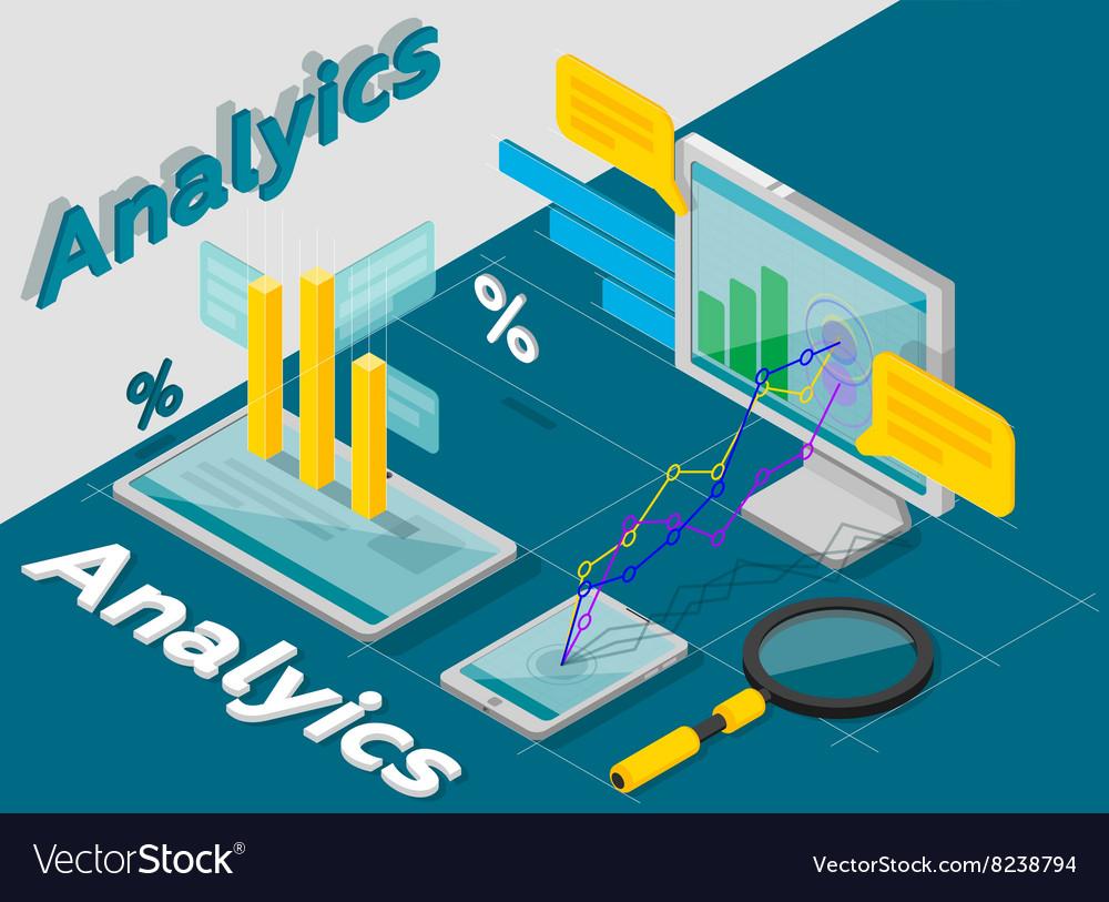 Analytics concept isometric style