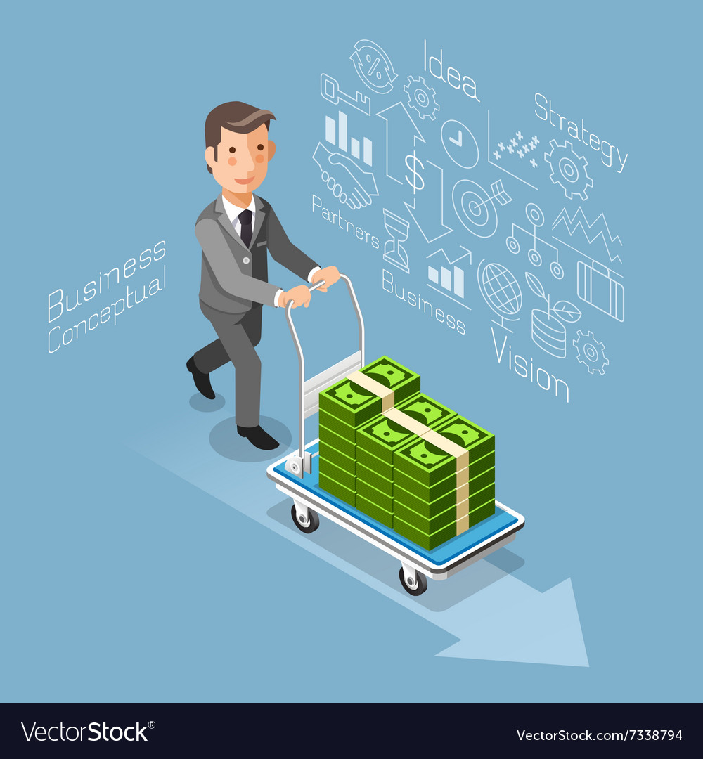 Business conceptual isometric flat style
