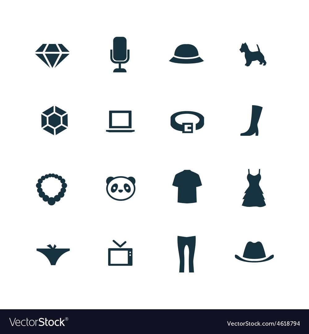 Fashion icons set