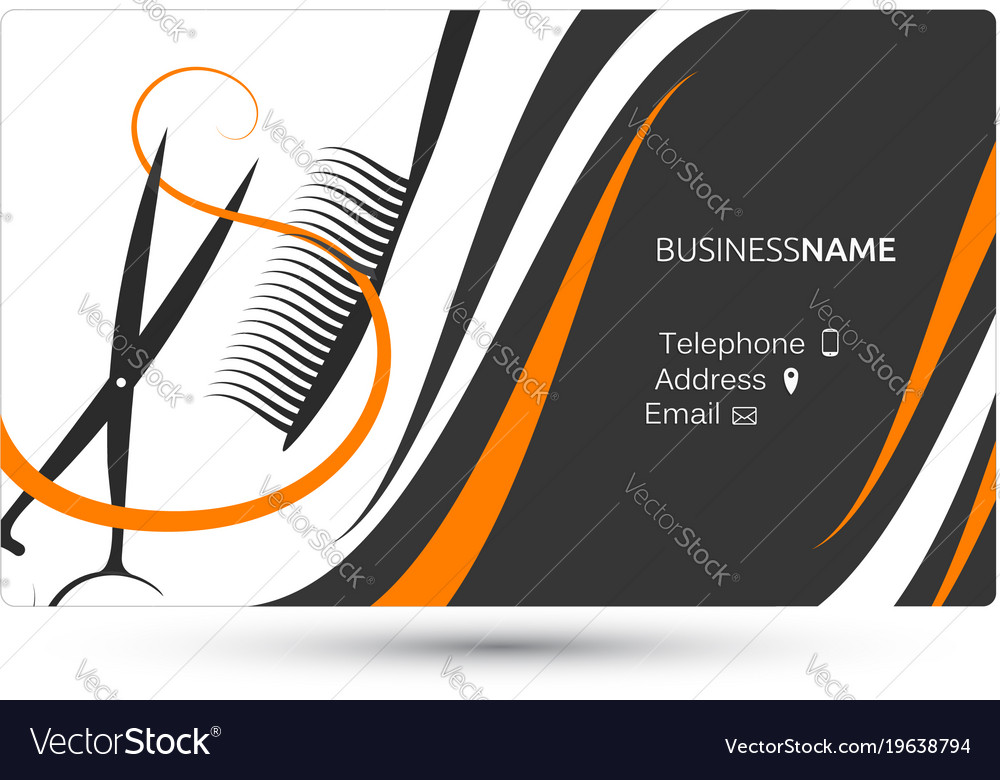 Hairdressing salon business card royalty free vector image hairdressing salon business card vector image reheart Choice Image
