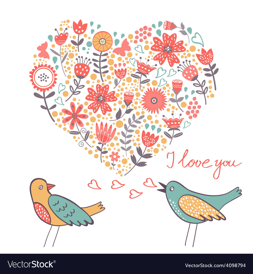 Love concept card vector image